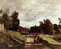 Near the Mill, Chierry, Aisne, 1860, corot
