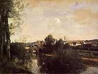 Old Bridge at Limay, on the Seine, c.1870, corot