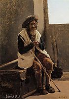 Old Man Seated on Corot s Trunk, 1826, corot