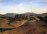Olevano, La Serpentara, 1827, corot