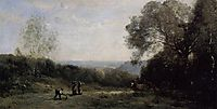 Outside Paris The Heights above Ville d-Avray, 1870, corot