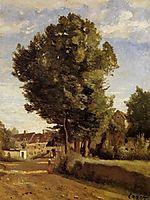 Outskirts of a village near Beauvais, c.1855, corot