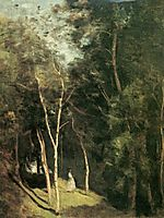In a park, 1862, corot