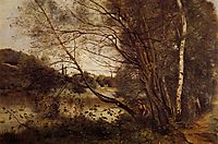 Pond at Ville d-Avray, with Leaning Trees, 1873, corot