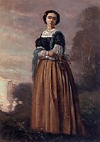 Portrait of a Standing Woman, c.1850, corot