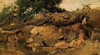 Quarry of the Chaise Mre at Fontainebleau, c.1835, corot