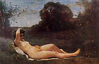 Reclining Nymph, 1859, corot