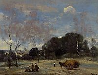 Return of the Hayers to Marcoussis, c.1874, corot