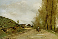The Road in Gouvieux , corot