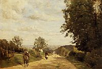 The Road to Sevres, c.1859, corot