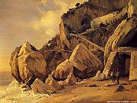 Rocks in Amalfi, 1828, corot