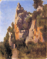 Rocks at Civita Castellana, 1827, corot