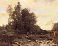 The Rocky Stream, c.1870, corot