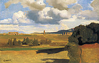 The Roman Campagna with the Claudian Aqueduct, 1828, corot