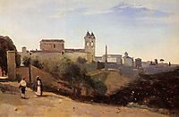 Rome, the Trinita dei Monti View from the Gardens of the Academie de France, c.1827, corot