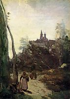 Semur, the Path from the Church, c.1860, corot