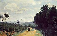 The Severes Hills Le Chemin Troyon, c.1840, corot
