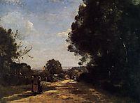 Sevres Brimborion View toward Paris, 1864, corot