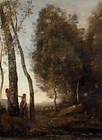 Shepherd and Shepherdess at Play, c.1870, corot
