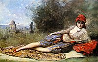 Sicilian Odalisque, 1872, corot