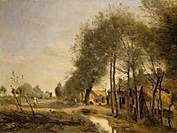 The Sin le Noble Road near Douai, 1873, corot