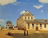 Soissons, Houses and Factory of Mr. Henry, 1833, corot