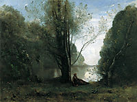 The Solitude. Recollection of Vigen, Limousin, 1866, corot