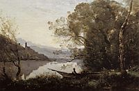 Souvenir of Italy (The Moored Boat), 1864, corot