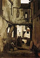 The Tanneries of Mantes, 1873, corot