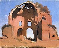 Temple of Minerva Medica, 1826, corot