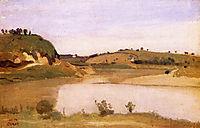 The Tiber near Rome, 1828, corot