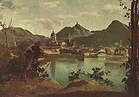 Town and Lake Como, 1834, corot
