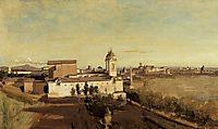 Trinita dei Monti from the Villa Medici, c.1834, corot