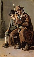 Two Italians, an Old Man and a Young Boy, c.1843, corot