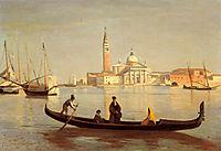Venice Gondola on Grand Canal, corot