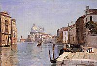Venice -  View of Campo della Carita looking towards the Dome of the Salute, 1834, corot