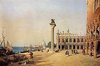 Venice View of the Esclavons Quay, 1834, corot