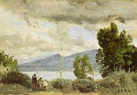 View of Chalet de Chenes, Bellvue, Geneva, 1857, corot