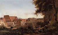 View of the Colosseum from the Farnese Gardens, 1826, corot