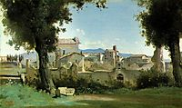 View from the Farnese gardens, Rome, 1826, corot