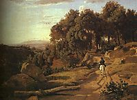 A View near Colterra, 1838, corot