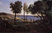 View near Naples, 1841, corot