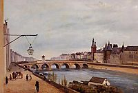 View of the Pont au Change from Quai de Gesvres, 1830, corot