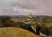 View of Saint Lo with the River Vire in the Foreground, c.1855, corot