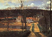 Ville d-Avray the Pond and the Cabassud House, c.1840, corot