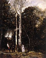 Walk in the Lions Park at Port-Marly, 1872, corot