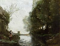 Watercourse leading to the Square Tower, 1870, corot
