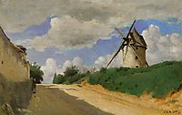 Windmill on the Cote de Picardie, near Versailles, c.1840, corot