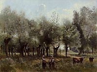 Women in a Field of Willows, 1865, corot