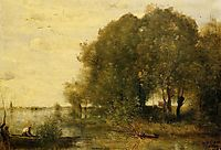 Wooded Peninsula, 1868, corot